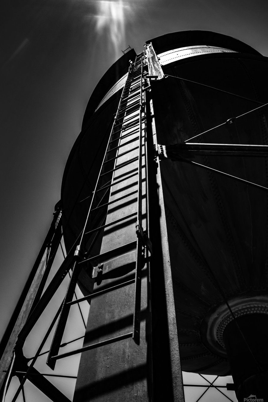 Water Tower BnW  Print